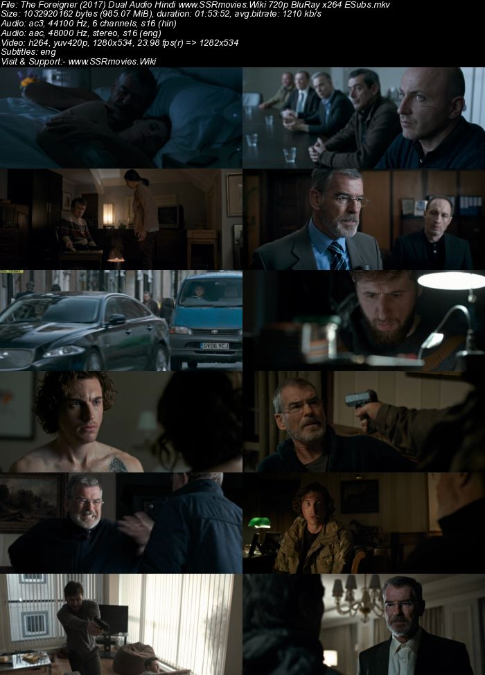 The Foreigner (2017) Dual Audio Hindi 720p BluRay x264 950MB ESubs