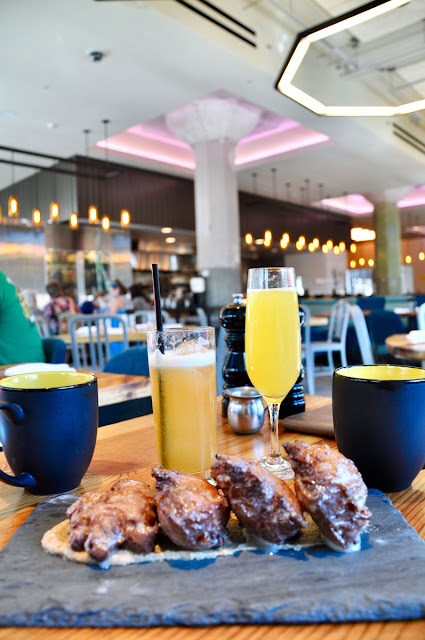 Sunday Brunch, Apple Fritters and Mimosas at Mary Eddy's in OKC