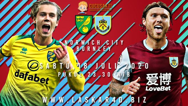 Prediksi Bola Norwich City vs Burnley Sabtu 18 Juli 2020