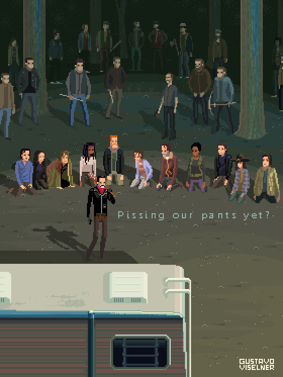 The Walking Dead -  Pixel Art