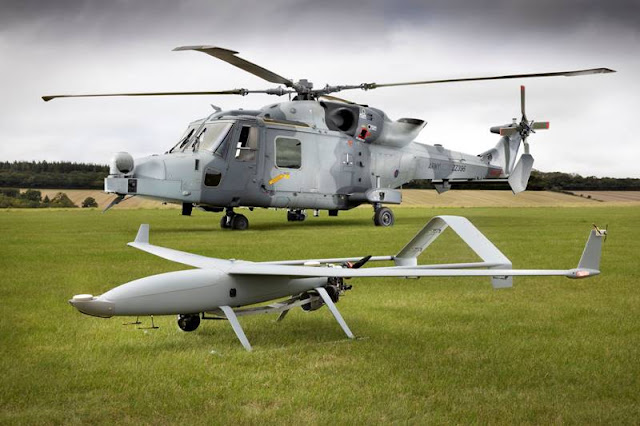 Leonardo demonstrates integration UAV helicopter