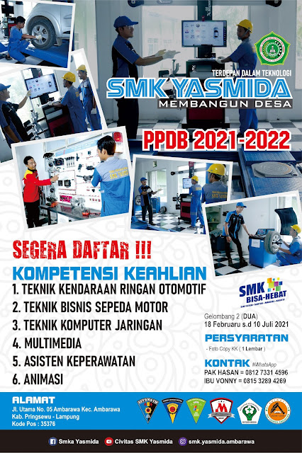 Download Desain Banner Promosi SMK Yasmida Ambarawa Jurusan TKRO