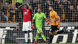 Wolves 1-1 Man Utd: Paul Pogba misses penalty at Molineux- Mynaijalite