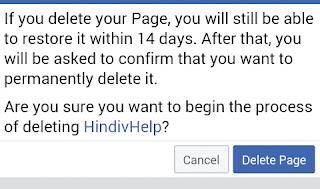 delete page pr Click kare