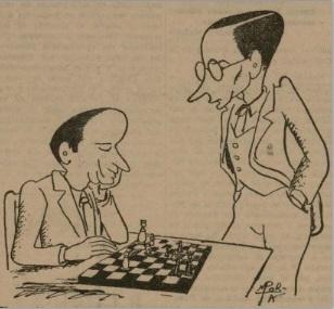Caricaturas de Jaime Casas y el Dr. Ramón Rey Ardid
