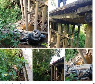 Acidente de Carro em Ponte em Sete Barras
