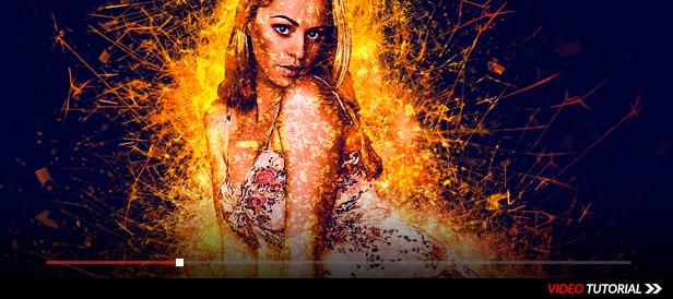 Sparkler Explosion Photoshop Action