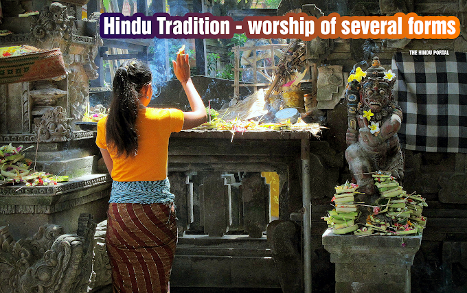 Hindu Tradition Accepts worship of several forms !