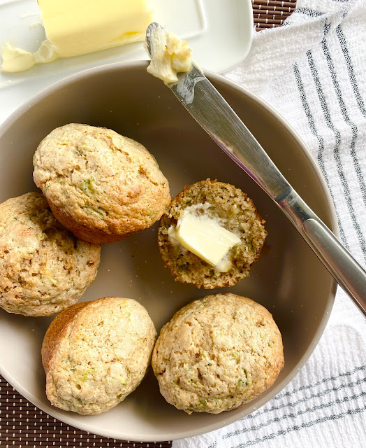 Sour Cream Zucchini Muffins