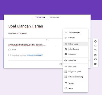 Membuat Soal Ujian Online dengan Google Formulir