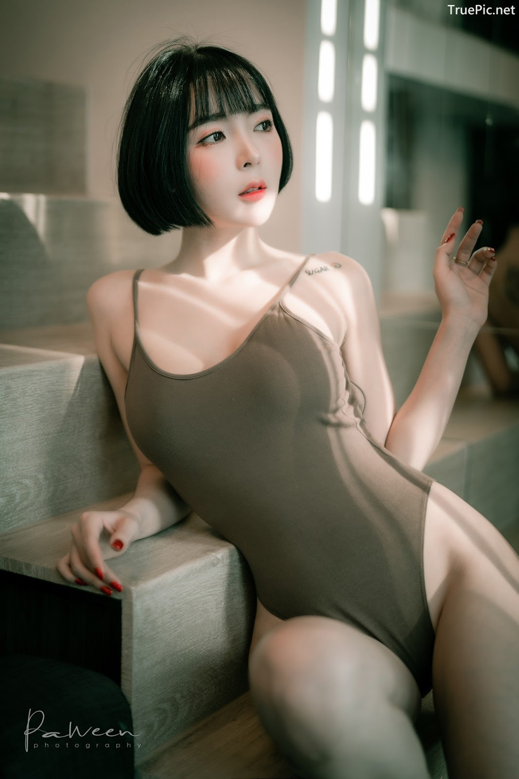 Image Thailand Model - Preeyapon Yangsanpoo - One Piece Swimsuit In House - TruePic.net - Picture-7