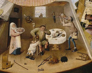 Painting attributed to Hieronymus Bosch, The Seven Deadly Sins and the Four Last Things