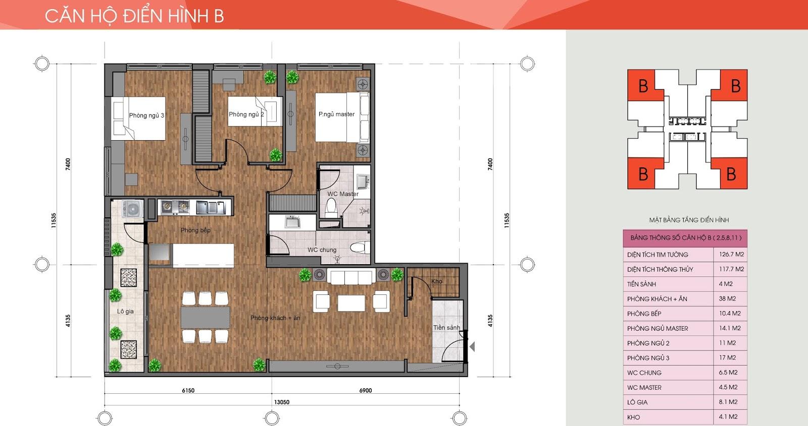 Thiết kế căn hộ The Legacy
