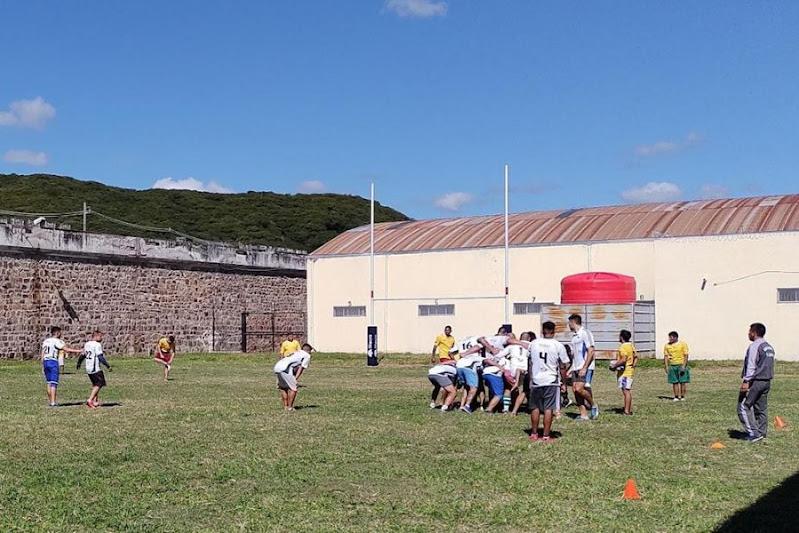 Cuadrangular de rugby en el Penal de Villa las Rosas
