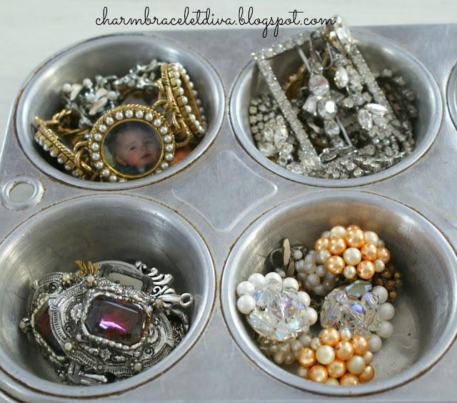 vintage amethyst brooch round pearl earrings portrait charms rhinestones