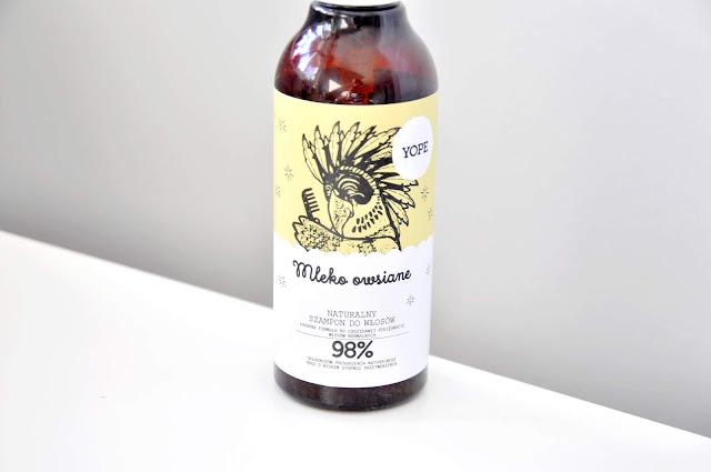 szampon do włosów yope mleko owsiane do włosów normalnych