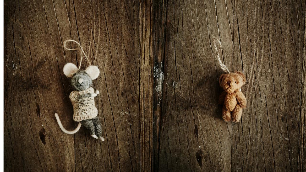 miniaturki pluszaków na choince