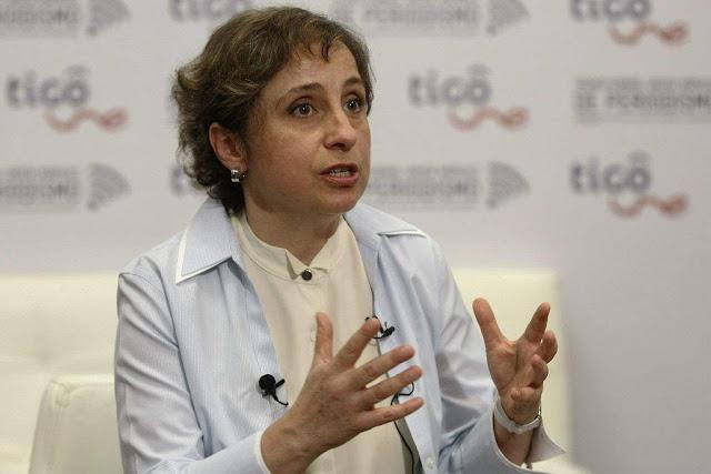 Ante espionaje a su hijo, Aristegui llama a Peña Nieto como un ser siniestro.