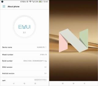 actualizacion disponible android nougat para tu movil huawei p9