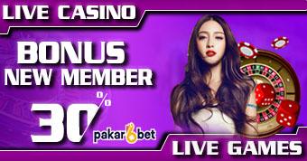 PAKARBET | BONUS NEW MEMBER LIVE CASINO & IDNLIVE