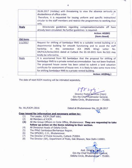 All India Postal Employees Union Group C Odisha Circle Minutes Of