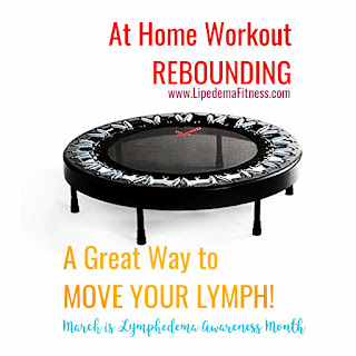 Finding alternate activities since the pool is closed; a rebounder can help you have fun and move your lymphatics.