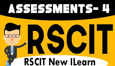 Rscit I-Learn Assessment- 4 Important Question in Hindi 2019, RKCL I-Learn Assessment - 4 in Hindi, i-Learn Important Question in Hindi, rkcl i learn assessment 4 question with answers in hindi