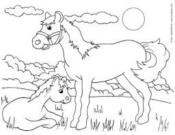 Printable Horse And Cute Pony Coloring Pages Animals