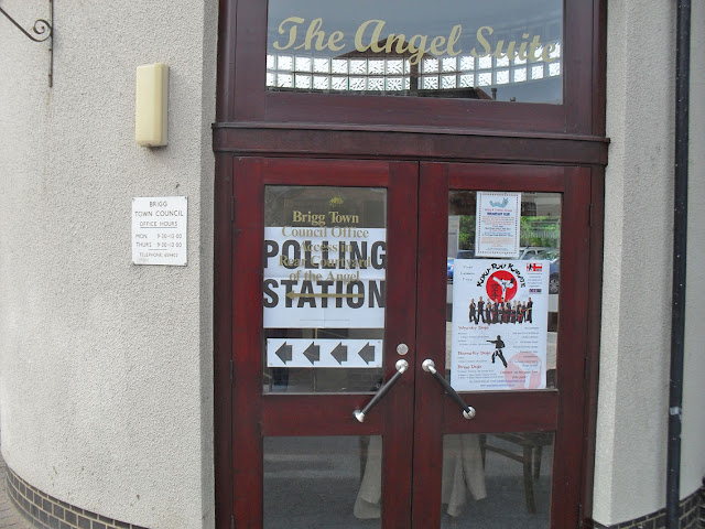 The Angel polling station in Brigg - picture on Nigel Fisher's Brigg Blog