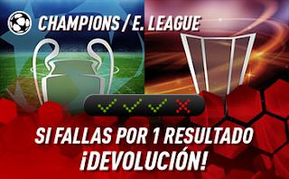 sportium Champions + E.League: Combinada 'con seguro' 6-8 agosto 2019