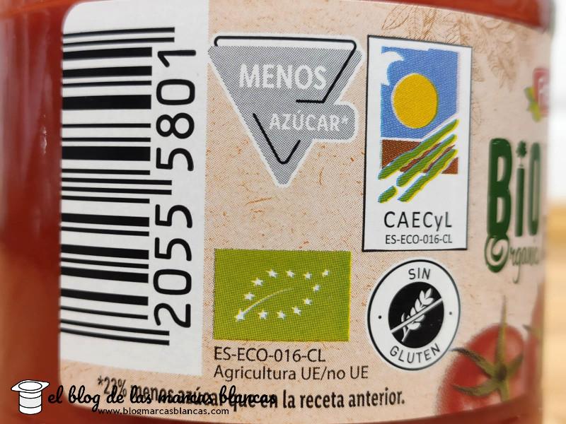 Sello agricultura ecológica del Tomate frito ecológico Bio FRESHONA (Lidl) en El Blog de las Marcas Blancas