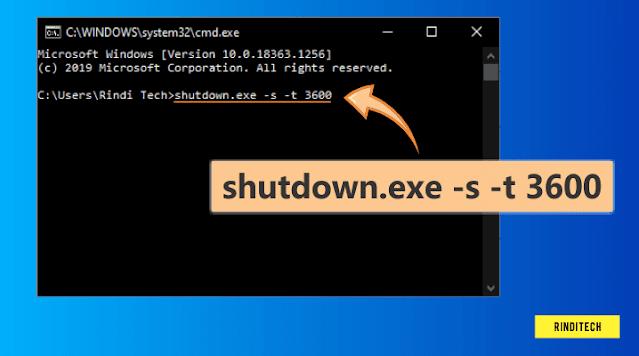 Cara mematikan komputer dengan waktu otomatis shutdown timer