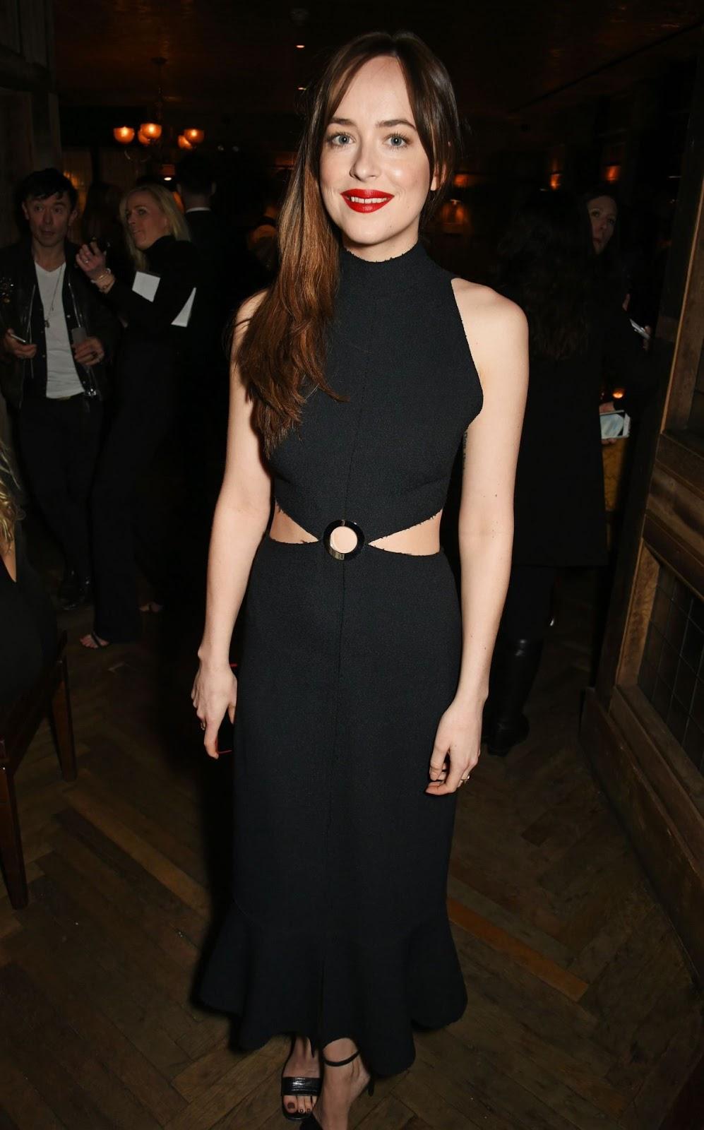 Dakota Johnson at Weinstein Grey Goose Pre-BAFTA Dinner in London