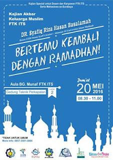 [Download Audio] Kajian Ust. Dr. Syafiq Reza Basalamah MA - Bertemu Kembali dengan Ramadhan