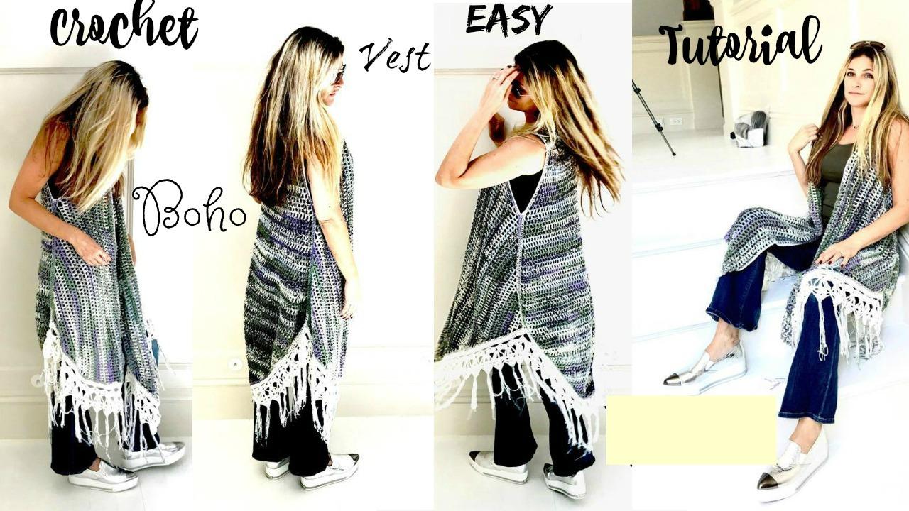Annoo\'s Crochet World: Bohemian Vest Crochet