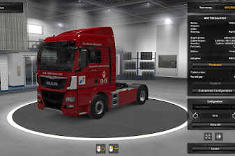 Pertamina Skin for MAN TGX Euro 6