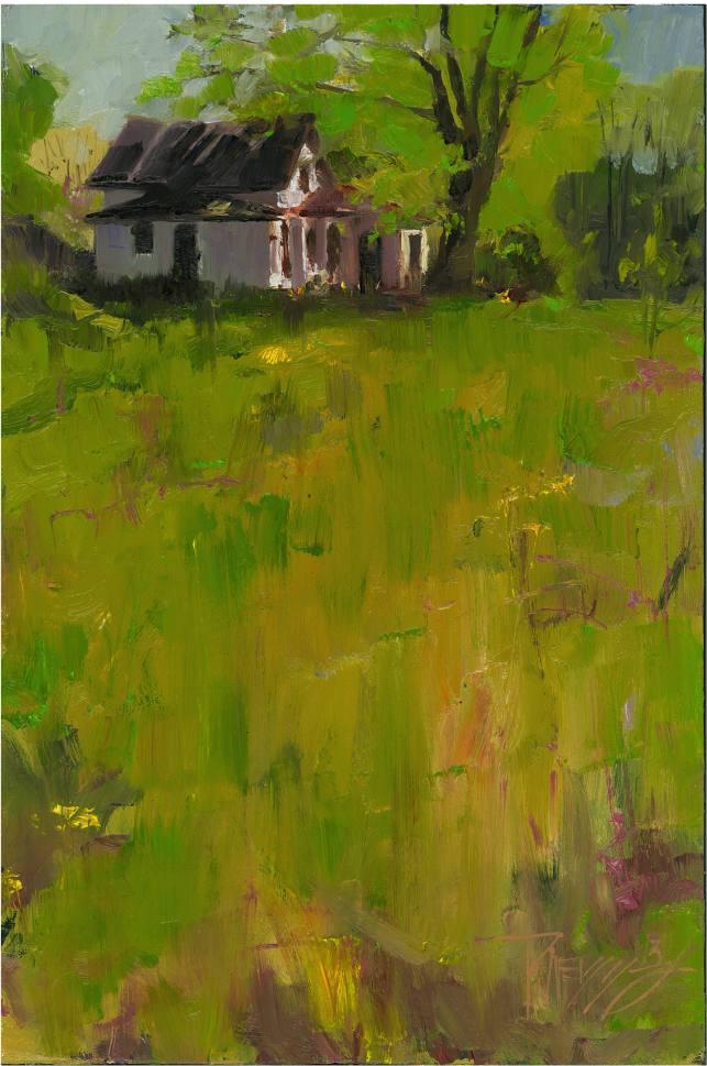 In Plein Air Quot Abandoned House Quot Plein Air Oil Landscape
