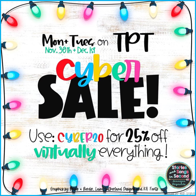 Get some great deals during the TpT Cyber Sale 2020!  Grab great holiday and winter resources for 25% off!
