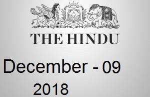 The Hindu Newspaper Today 09 December 2018 Download PDF
