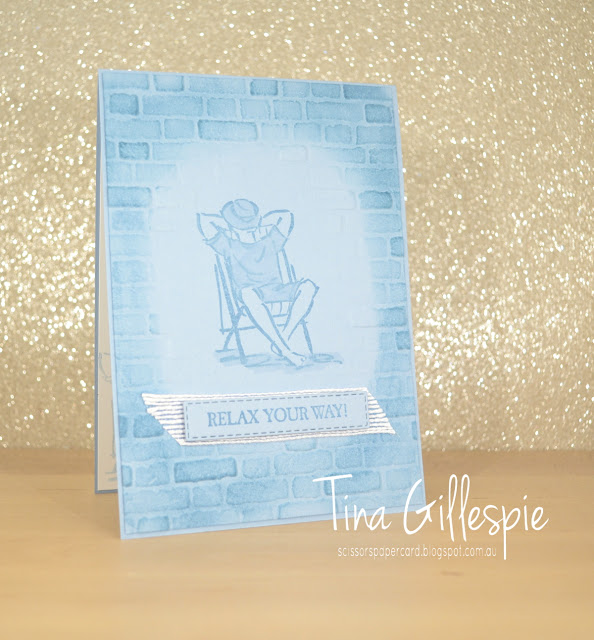 scissorspapercard, Stampin' Up!, Art With Heart, A Good Man, Brick & Mortar 3D EF, Stampin' Blends, Masculine Card, Male Card