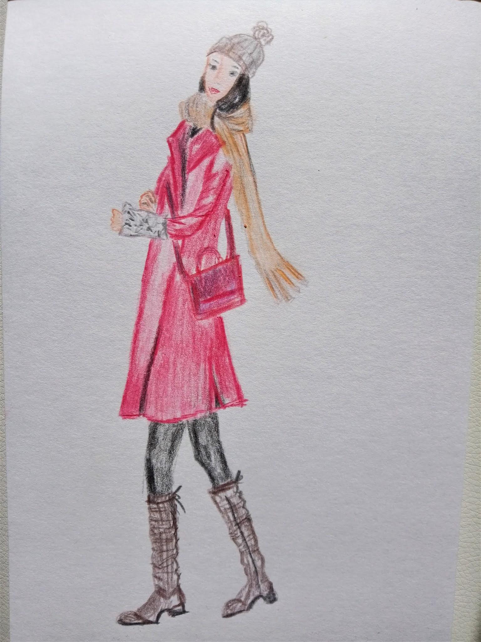 #modaodaradosti blog fashion sketch