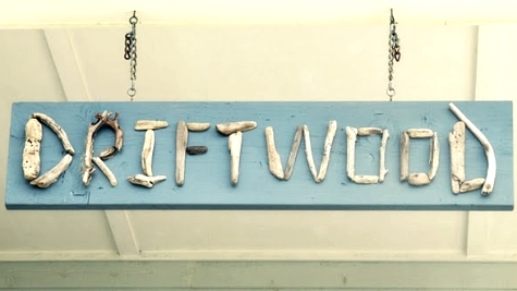 driftwood letter sign