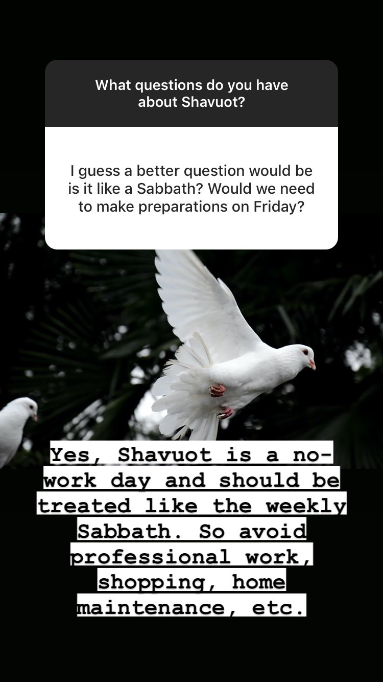 Is Shavuot a Sabbath day? Q+A about the Biblical holiday of Shavuot | Land of Honey
