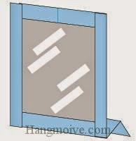 Bước 11: Hoàn thành cách xếp cái gương trang điểm bằng giấy theo phong cách origami.