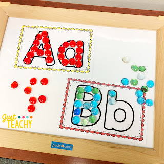 light table letter activities