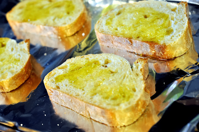 Thick Sourdough Slices with Olive Oil | Taste As You Go