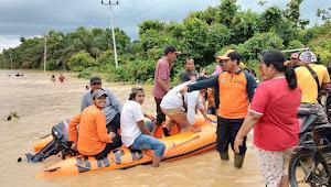 Puluhan Rumah di Desa Teluk Lancang Terendam Banjir