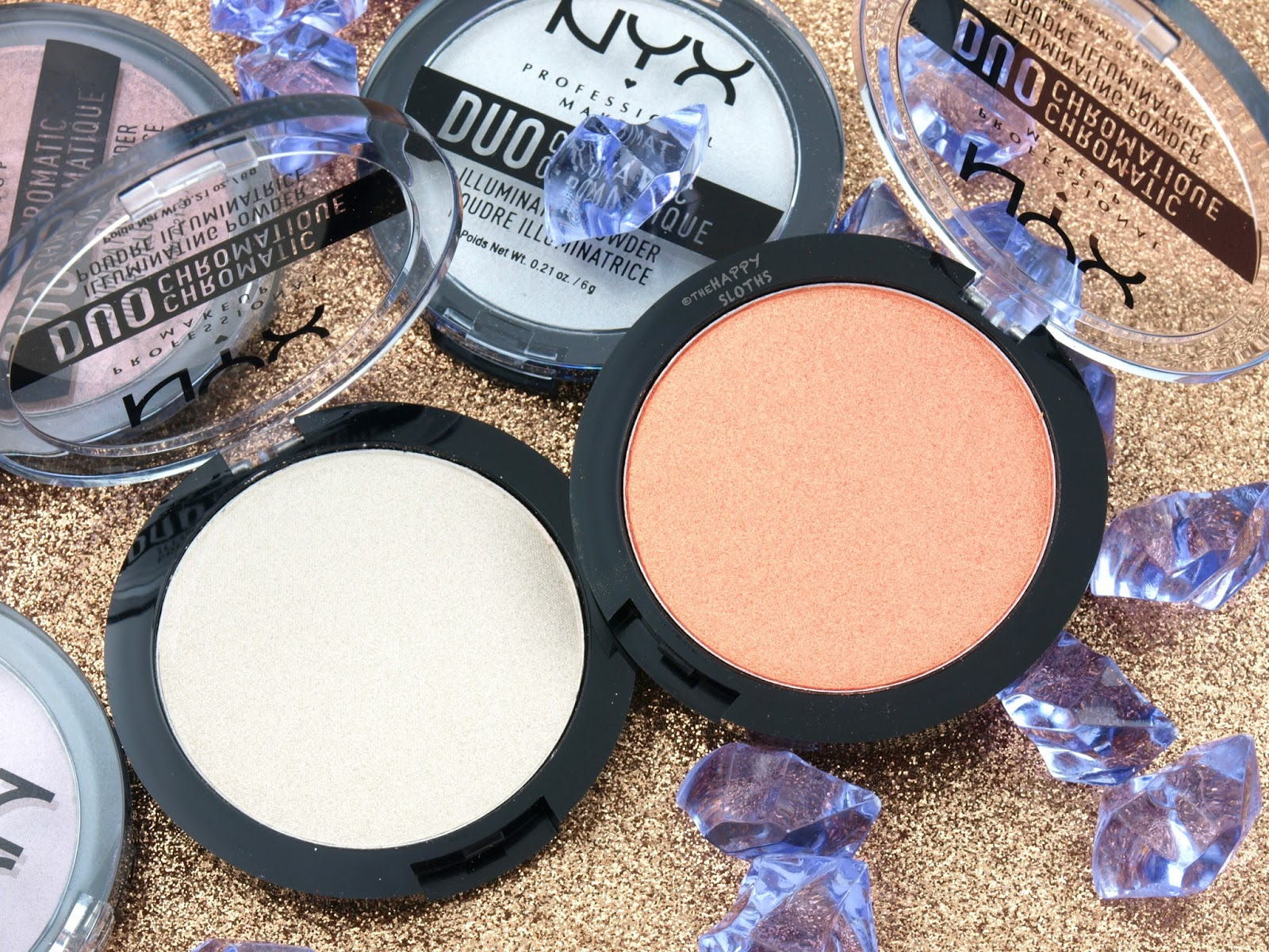 NYX Duo Chromatic Illuminating Powder: Review and Swatches