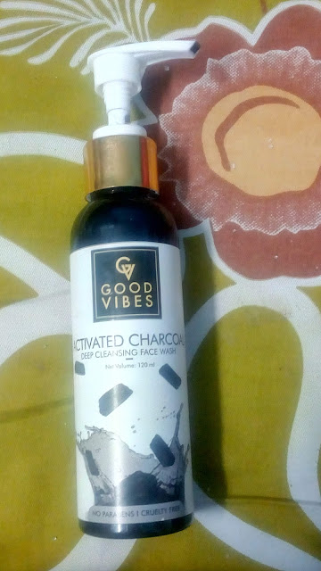 Good vibes charcoal face wash