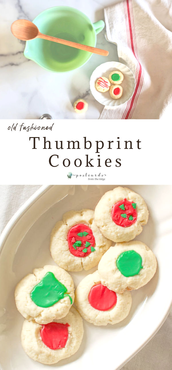 christmas thumbprint cookie recipe